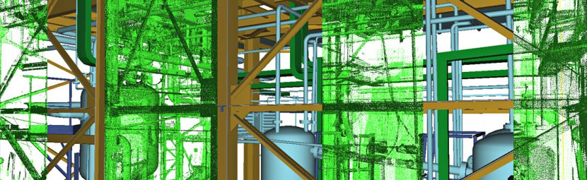 Laser scanning of technological equipment – point cloud and CAD model