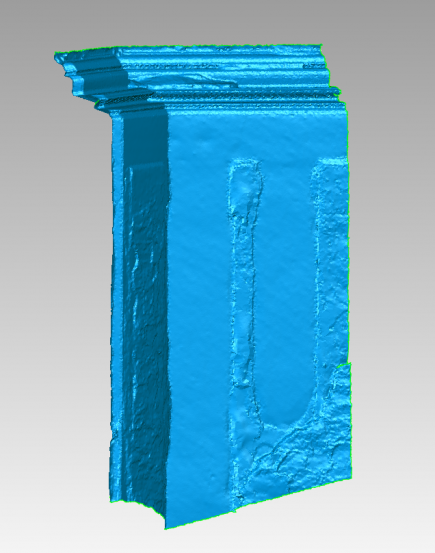 3D Model of the Facade Generated from the Data Measured by Laser Scanning