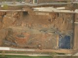 Material displacement at the construction site from UAV
