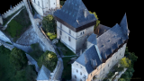 3D Model of Karlštejn from the Bird's-Eye View – Central Tower and Palace