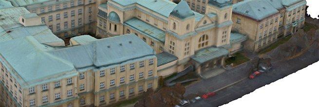 3D model Arcibiskupského semináře