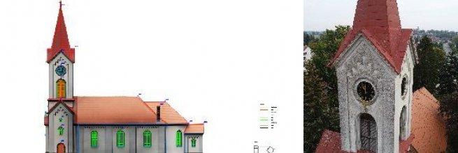 Dokumentace vnějšího stavu kostela v obci Černilov