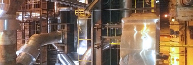 Laser scanning of boilers in the Chvaletice power plant