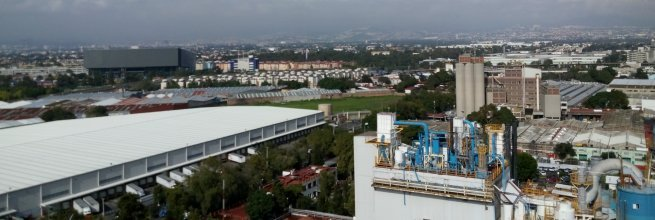 Laserové skenování průmyslového komplexu v Mexiku
