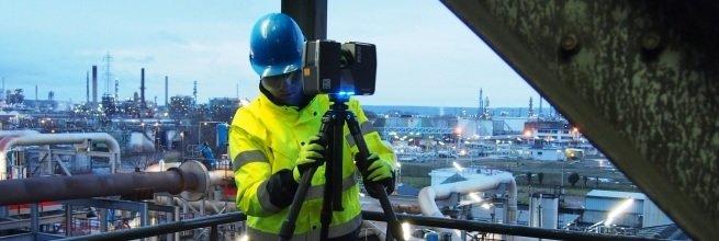 Laserové skenování v Normandii