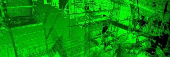 Laserscanning der technologischen Anlagen