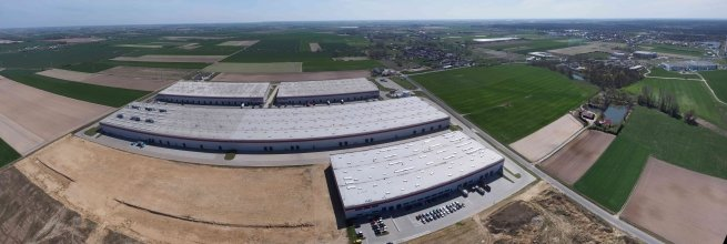 Aerial Photography of Logistic Centers in Poland