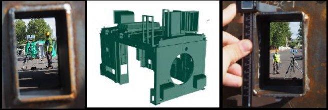Podrobné skenování a vektorizace technologického objektu