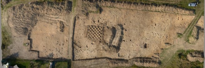 3D model of excavations in Strakonice
