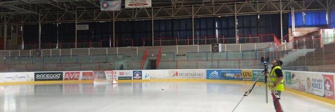 Zaměření skutečného stavu zimního stadionu v Třebíči